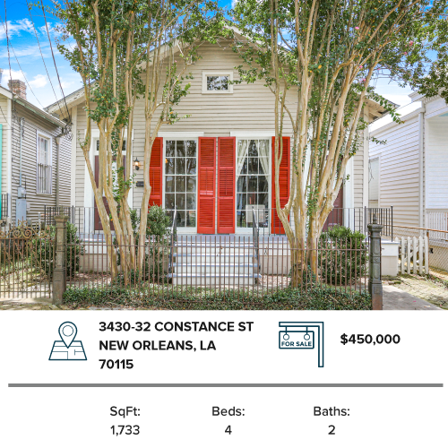 new orleans double investment property nola real estate home for sale multi family house